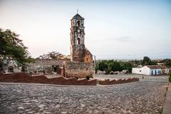 ruin of the church iglesia de santa ana in trinidad, cuba, caribbean - stock photo