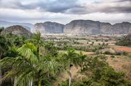 Stock Photo of the valley of vinales in cuba. this is an unesco world heritage site