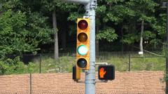 Traffic Lights, Street Lights, Signal Lights, Semaphores Stock Footage