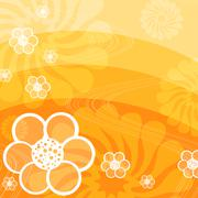 Yellow abstract flora background Stock Illustration