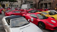 Ferrari cars Stock Footage