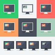 Responsive web design on different monitors Stock Illustration
