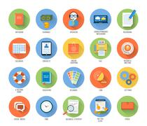 Business, office and marketing items icons. Stock Illustration