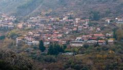 Mountain village, cyprus Stock Photos