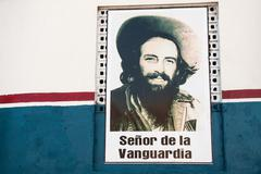 Stock Photo of camilo cienfuegos poster - mural on the wall by an unknown author