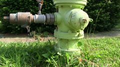 Fire Hydrant with a leaky gauge Stock Footage