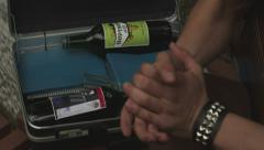 Port in a suitcase 4k Stock Footage