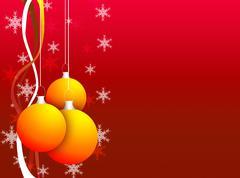 christmas decoration background - stock illustration