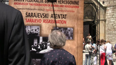 Sarajevo  Assassination 1914 Stock Footage
