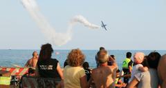 rome international air show - stock photo