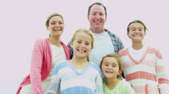 Caucasian Family Fun Outdoors Summer Vacation Stock Footage