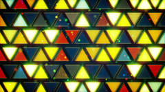 Yellow blue flashing triangles loop Stock Footage