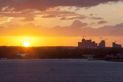 sunset in nassau - stock photo