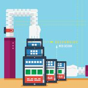 Responsive web design concept Stock Illustration