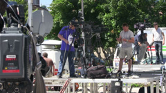Tv production Stock Footage