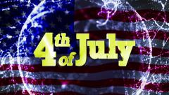 4th of July, American Holidays Text Stock Footage