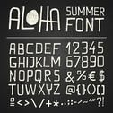 Stock Illustration of aloha sumer hand drawn font - chalkboard