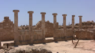 Stock Video Footage of Series of columns in Paphos Archaeological Park