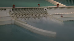 Model 2 of Three Gorges Dam Stock Footage