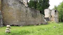 Beaufort castle consists of the ruins of the medieval fortress. Stock Footage