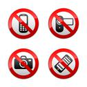 Stock Illustration of Set prohibited signs - gadget