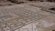 Stock Video Footage of Large patterned Roman floor mosaic in Paphos