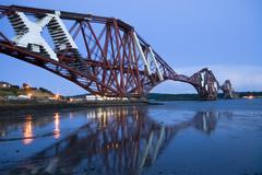 Forth railway bridge in Edinburg Scotland Stock Photos