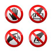 Stock Illustration of Set prohibited signs - not touch
