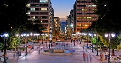 Athens Greece Syntagma Square Stock Photos