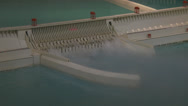 Stock Video Footage of Model of Three Gorges Dam