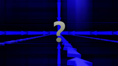 Question mark with arrows around episode 2 Stock Footage