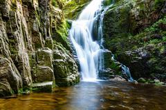 Poland. the karkonosze national park (biosphere reserve) - kamienczyk waterfa Stock Photos