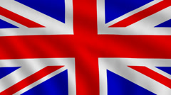 Flag of Great Britain - stock footage
