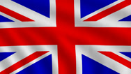 Stock Video Footage of Flag of Great Britain