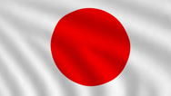 Stock Video Footage of Flag of Japan