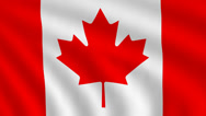 Stock Video Footage of Flag of Canada