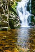 poland. the karkonosze national park (biosphere reserve) - kamienczyk waterfa - stock photo