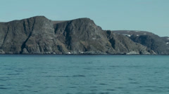 Europe Norway the North Cape 001 steep coast seen from seaside Stock Footage