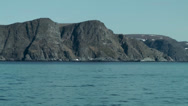 Stock Video Footage of Europe Norway the North Cape 001 steep coast seen from seaside