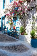 Beautiful restaurant in kos town. Stock Photos