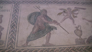 Stock Video Footage of Mosaic of Poseidon in Paphos Archaeological Park