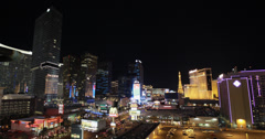 4K video of the famous Las Vegas strip and it's amazing casinos at night Stock Footage