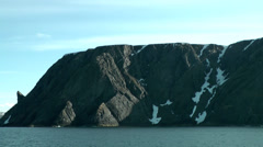 Europe Norway the North Cape 007 mountain with the famous stone nose Stock Footage