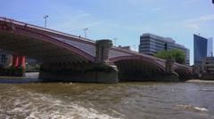 Blackfriars Bridge in London Stock Footage