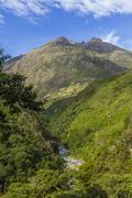 Andean valley cuzco peru Stock Photos