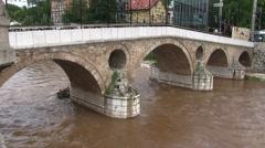 Bridge in Sarajevo Stock Footage
