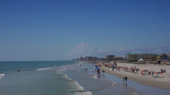 Daytona beach looking south from pier. Stock Footage