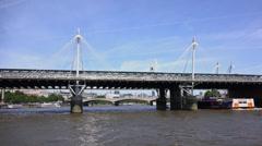 Golden Jubilee Bridge London - stock footage