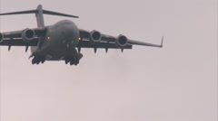 Boeing C-17 Globemaster Landing Stock Footage