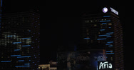 Stock Video Footage of 4K video of the Cosmopolitan Hotel and Casino in Las Vegas, Nevada